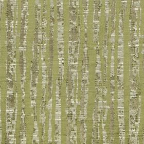 Tatton - Olive - Patchily printed light grey stripes printed in a vertical design on olive green fabric blended from several materials