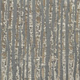 Tatton - Slate - Fabric blended from several materials in light and dark shades of grey, with a patchily printed vertical stripe design