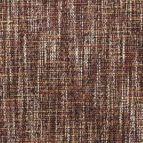 Chatsworth - Coral - White, gold, dark brown and burgundy coloured threads woven together into a fabric made from several materials