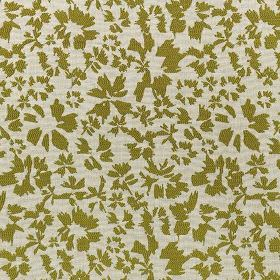 Harlow - Olive - Polyester and cotton blended together into an icy grey and forest green fabric, with a simple, stylised petal design