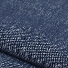 Obama - Azul - Navy blue coloured linen and cotton blend fabric featuring some white threads which show through