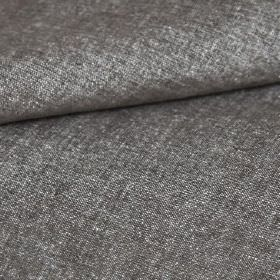 Obama - Choco - Fabric woven with a slightly speckled finish using dark grey and white coloured linen and cotton blend threads