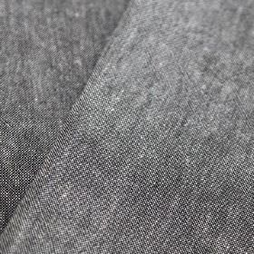 Obama - Plomo - Fabric made from linen and cotton with a slightly speckled finish in white and a very dark shade of grey