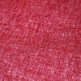Obama - Rojo - Bright claret coloured linen and cotton blend fabric finished with some paler areas and a slightly speckled finish