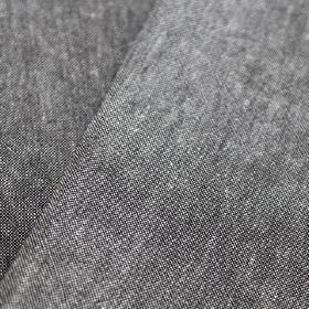Truman - Anthracita - Fabric speckled with white and a very dark shade of grey, made with a mixed linen and cotton content