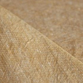 Truman - Curry - Warm caramel coloured fabric made from a blend of linen and cotton with a slightly speckled finish in white