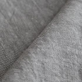 Truman - Elefante - Fabric woven from very fine white and iron grey coloured threads made from a mixture of linen and cotton