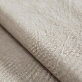 Truman - Ribbon - Putty coloured linen and cotton blend fabric made with no pattern