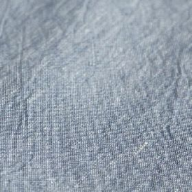 Truman - Stelo - Denim blue and white coloured slightly speckled fabric blended from a mixture of linen and cotton