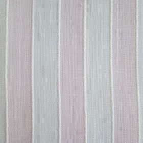Bengala - Pink - Fabric made with very pale grey-blue and pink stripes between very slightly raised vertical lines in white