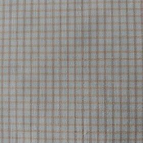 Pepe - Brown-Beige - Very pale grey-white coloured 100% cotton, featuring a simple checked design in light shades of grey and beige