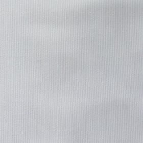 Pique Chambray - White - Pale blue-grey coloured cotton and polyester blend fabric featuring a very thin, subtle vertical line pattern