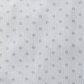 Rocio Pique - Grey - Two different light shades of grey making up a simple polka dot pattern on fabric blended from cotton and polyester