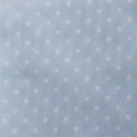 Rocio Pique - Blue - Cotton and polyester blend fabric featuring a subtle polka dot pattern in white and light blue colours