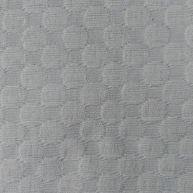 Round We Go - Ivory - Light grey cotton and polyester blend fabric, featuring a large, very subtle, slightly raised, textured circle pattern