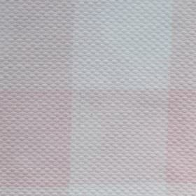 Tejo - Pink - Very subtle, large checks printed in white and very pale pink on slightly embossed fabric made from cotton and polyester