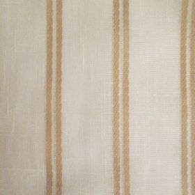 Danbury - Beige - Pairs of thin coffee coloured stripes running at evenly spaced intervals down fabric made in a light shade of grey
