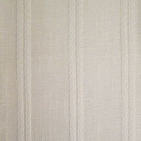 Danbury - White - Fabric made in a plain beige colour with a subtle design of pairs of thin, evenly spaced vertical stripes