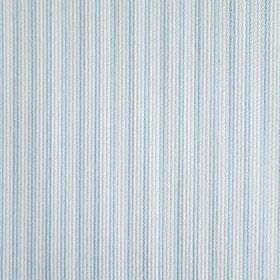 Dia - Blue - Very narrow pale blue stripes running vertically with very thin pale grey lines on fabric in a pale grey-white colour