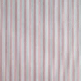 Dia - Pink - Fabric made with a simple, narrow vertical stripe design in light shades of pink and grey