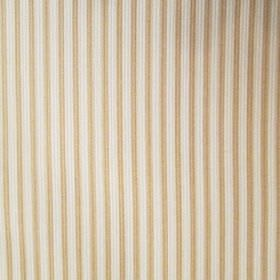 Dia - Beige - Vertically striped coffee and cream coloured fabric, featuring a simple, narrow, evenly spaced design