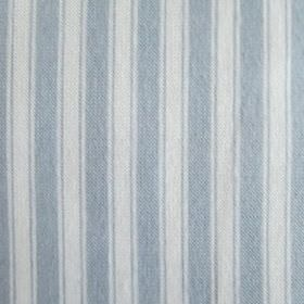Maryland - Blue - Dusky blue-grey coloured stripes and lines printed in a regular vertical stripe pattern on a pale grey fabric background