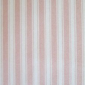 Maryland - Pink - Pale pink and off-white coloured fabric printed with a regular, simple, vertical stripe pattern with lines & wider bands