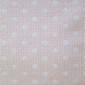 Spots - Pink - Fabric patterned with a subtle polka dot design in very pale pink and light white-grey
