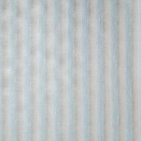 Willow - Blue - Light shades of blue and grey making up a fabric with a very simple, even, regular, alternating vertical stripe design