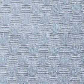 Candyfloss - Blue - 100% cotton fabric made in light blue, featuring subtly textured dots in rows on embossed horizontal stripes