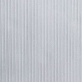 Lluvia - White - Vertical lines patterning white cotton and polyester blend fabric, finished with a slightly raised, textured effect