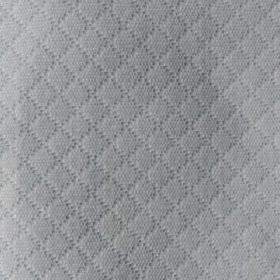 Lucas - Natural - Cotton and polyester blend fabric made in pale grey, with a subtle grid pattern made up of tiny, slightly embossed dots