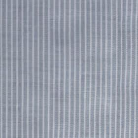 Mar - Blue-White - Thin white and dark grey vertical stripes patterning fabric made from 100% cotton