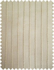 Barrington - Beige - Beige fabric patterned with vertical lines which are cream in colour, evenly spaced and slightly raised