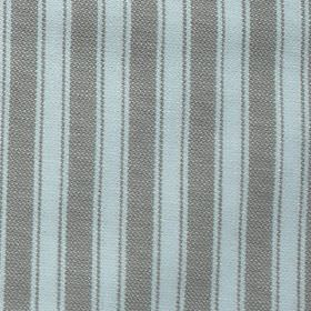 Maryland - Khaki - Classic vertical stripes in battleship grey and white on fabric made from 100% cotton