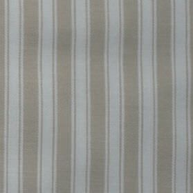Maryland - Beige - 100% cotton fabric made with a white and beige pattern of simple, classic vertical stripes