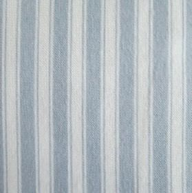 Maryland - Blue-White - White and light blue simple, classic vertical stripes patterning 100% cotton fabric