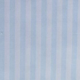 Oyambre - Blue - Light sky blue and very pale grey-white making up a simple vertical stripe design on fabric made from cotton & polyester