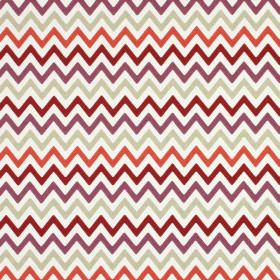Zag Zig - Firefly - Zigzag print 100% cotton fabric in several different shades of pink, white and light green