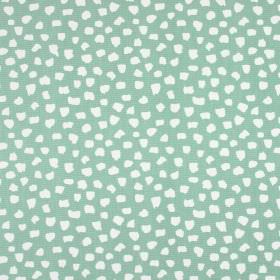 Dita - Colonial - 100% cotton fabric with a small pattern of random shapes in pale blue and white