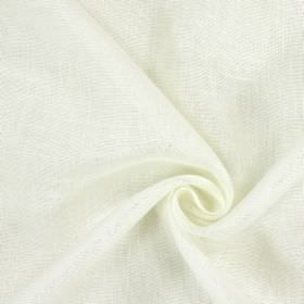 Alaska - Cream - Patchily coloured pale grey and bright white 100% linen fabric