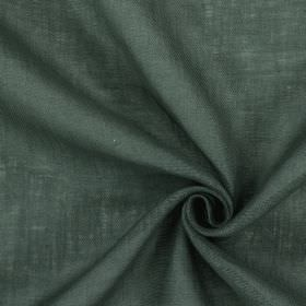 Alaska - Pewter - Dark battleship grey coloured 100% linen fabric with a slightly patchy finish