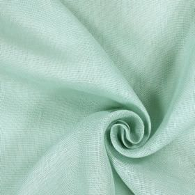 Alaska - Mineral - Very pale duck egg blue and white patchy colouring on fabric made from 100% linen