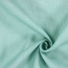 Alaska - Azure - 100% linen fabric with an uneven, patchy finish in pale shades of blue