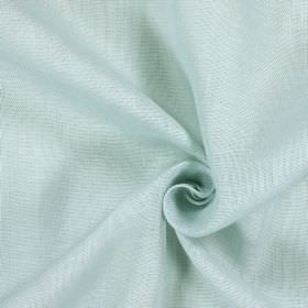 Alaska - Aqua - Two similar pale shades of blue-grey making up a patchily coloured 100% linen fabric