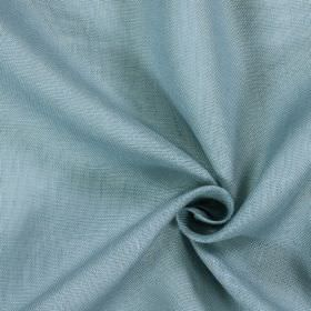 Alaska - Cambridge - Patchily coloured fabric made from 100% linen in two similar shades of light baby blue