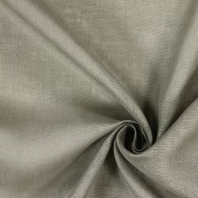 Alaska - Mushroom - Fabric made from 100% linen in patchy light brown and pale grey-white
