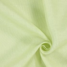 Alaska - Lime - Off-white fabric made from 100% linen which has been unevenly coloured with very pale olive green areas