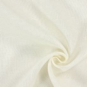 Alaska - Parchment - 100% linen fabric in light grey and white, with uneven, patchy colouring
