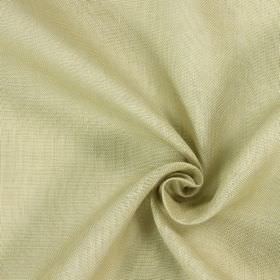 Alaska - Maize - Fabric made from white and stone coloured 100% linen which is slightly patchy